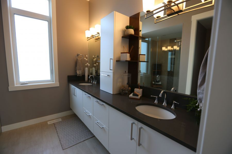Lots of Counter Space on this Double Sink Vanity in the Ensuite