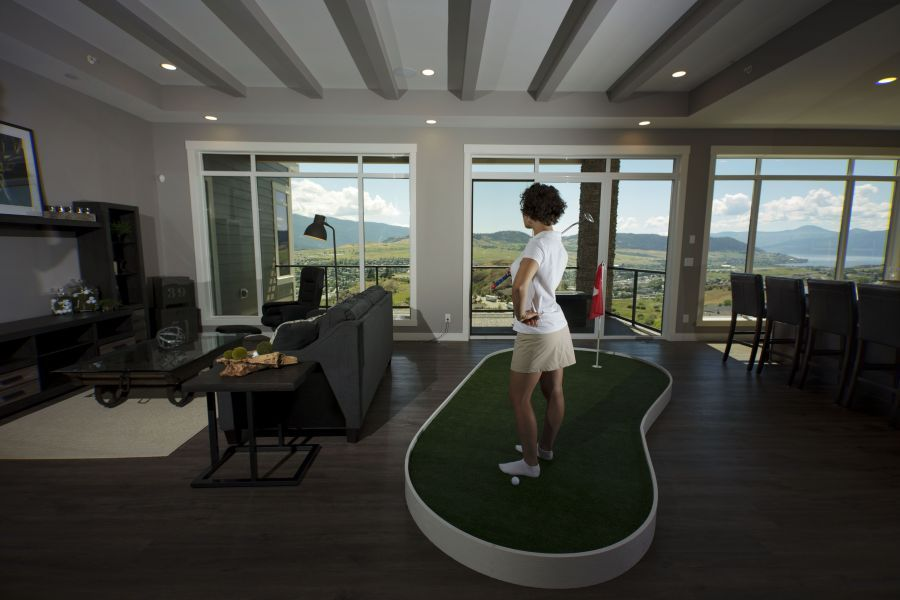 Why Not Have a Golfing Green in Your Basement