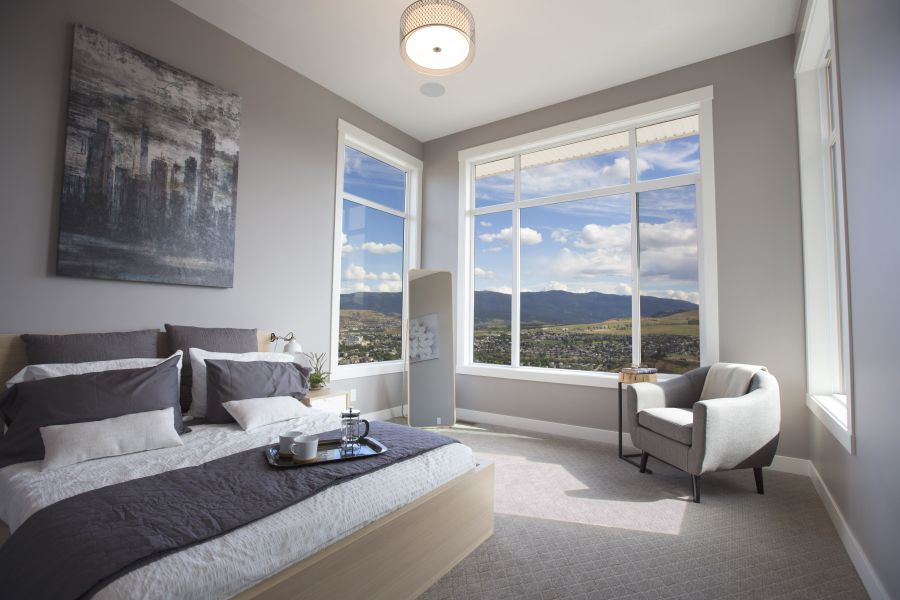 Tall Ceilings makes for Big Windows in this Master Bedroom