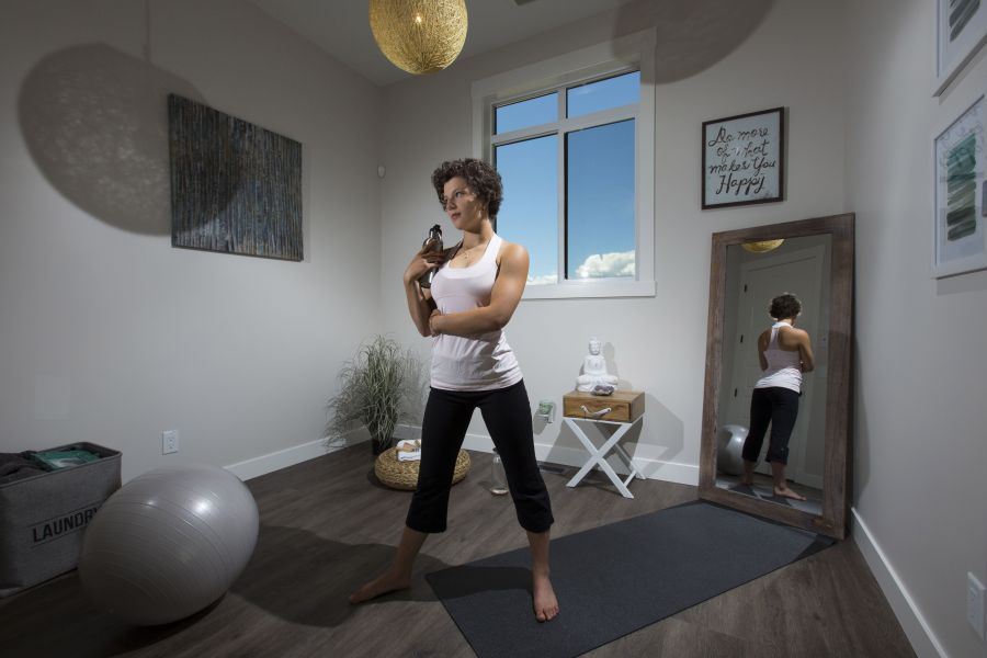 A Flex Room Turned Exercise Room - A Past Showhome on Terrapin Lane