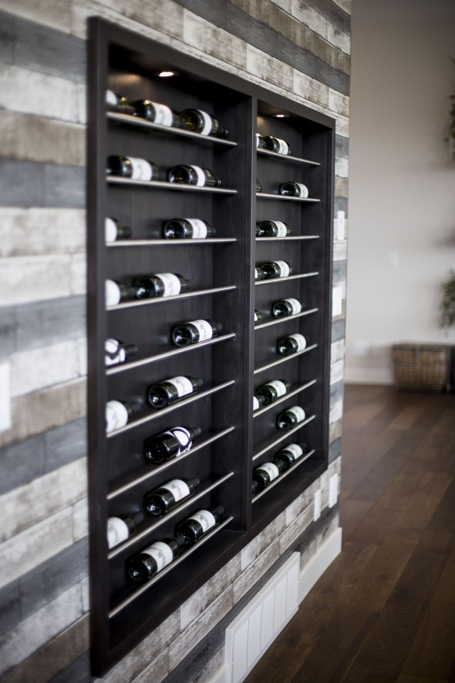 A Built-In Wine Rack as a Piece of Art